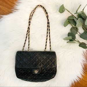 Jay Herbert New York Black quilted leather bag